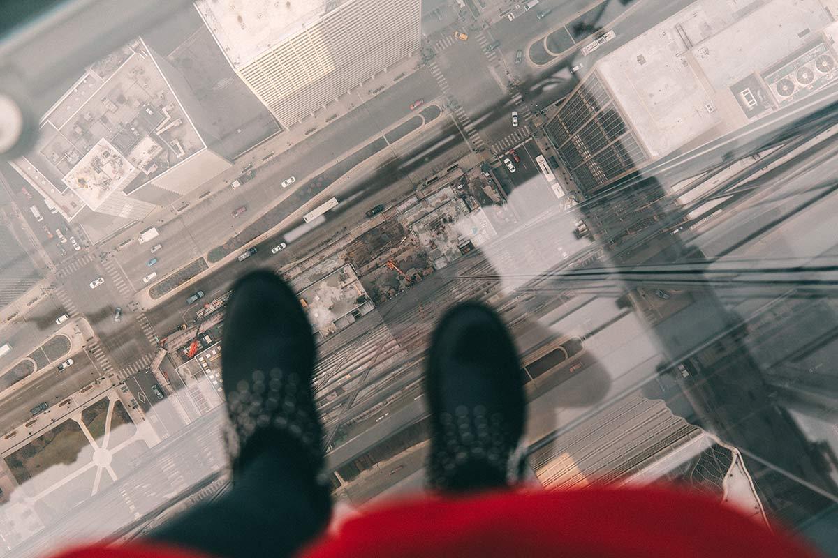 Glasbalkon auf dem Skydeck Chicago