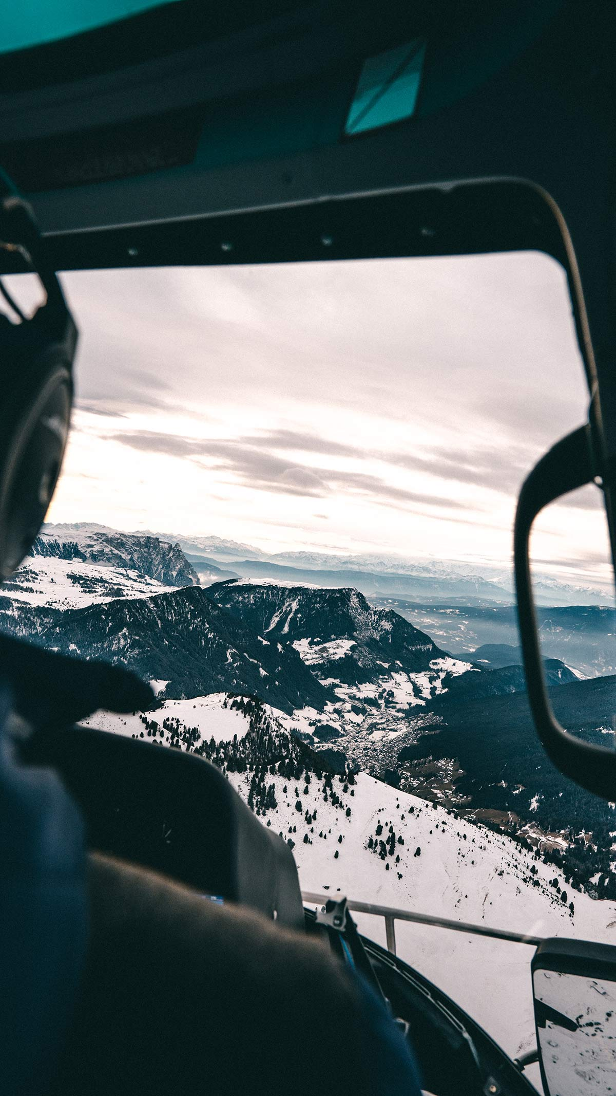Helikopterflug Dolomiten Wolkenstein