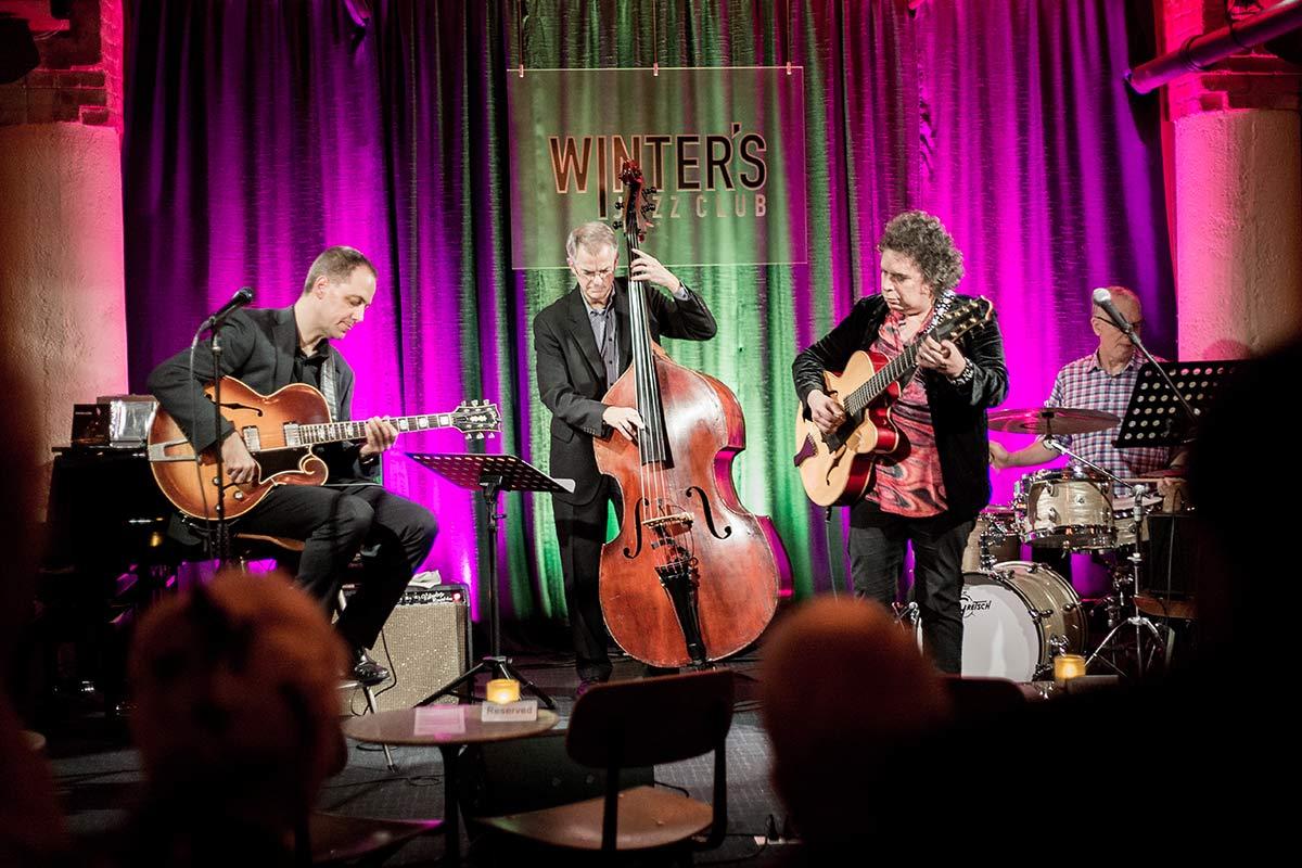 Jazz Musiker im Winter's Jazz Club in Chicago