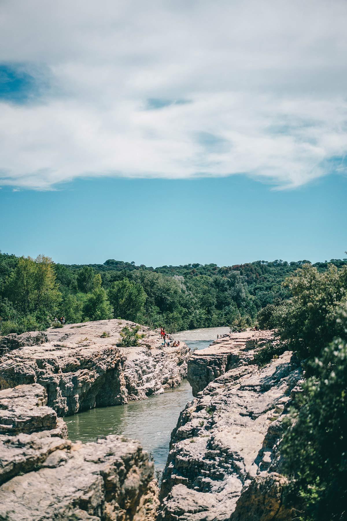Kaskaden von Sautadet Wasserfall und Schluchten