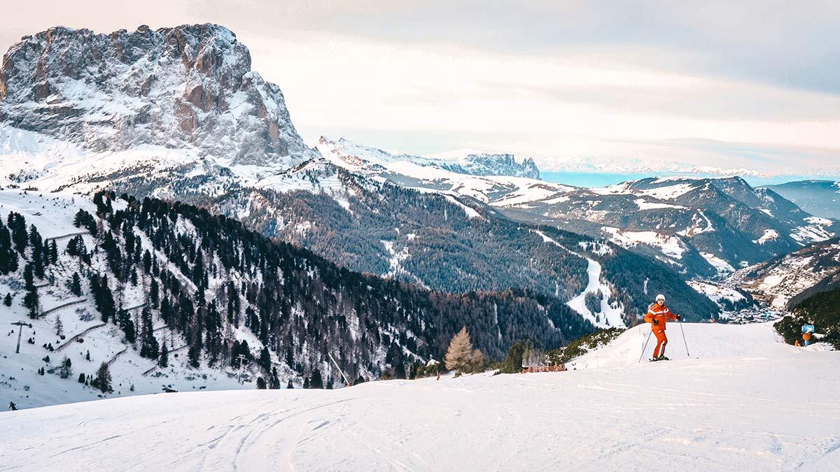 Panorama Skipiste Wolkenstein