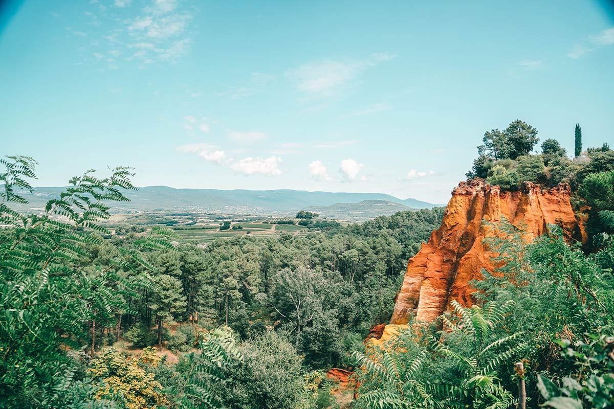 rote Felsen Roussillon