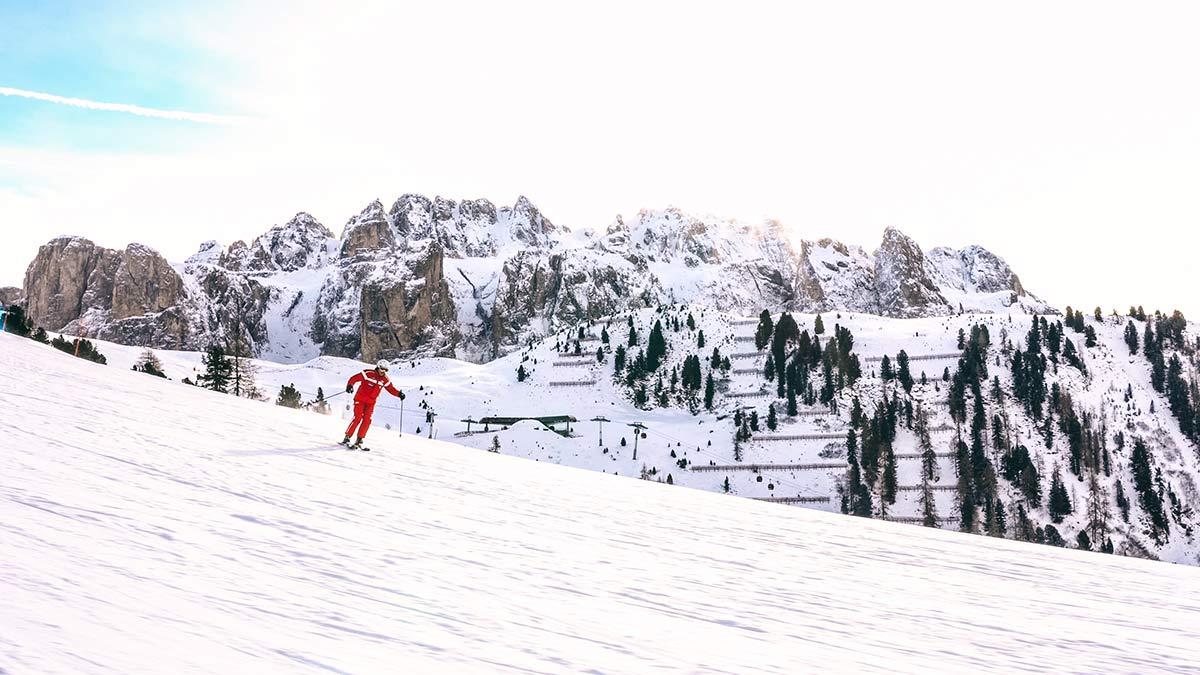 Skifahren Skipiste Adolf