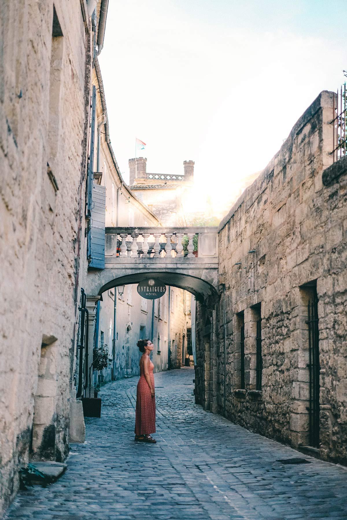 Stadt Uzes in Frankreich