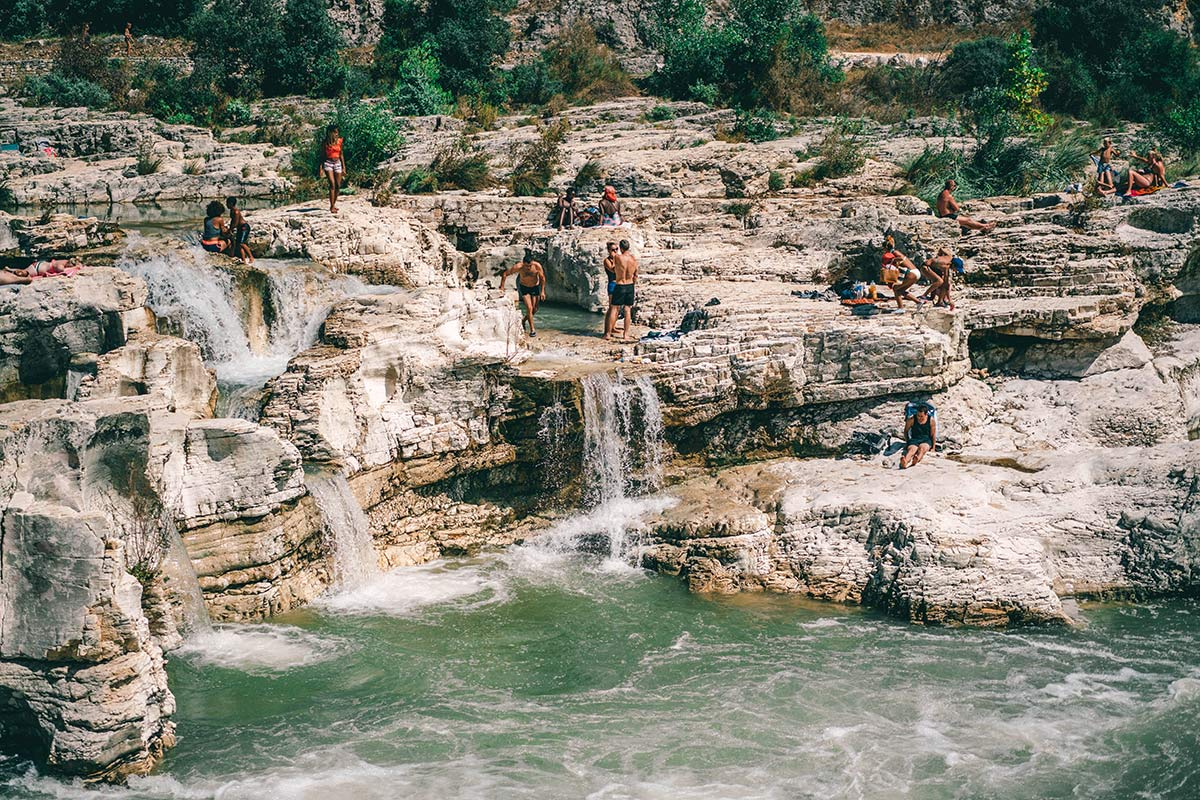 Wasserfall Kaskaden von Sautadet