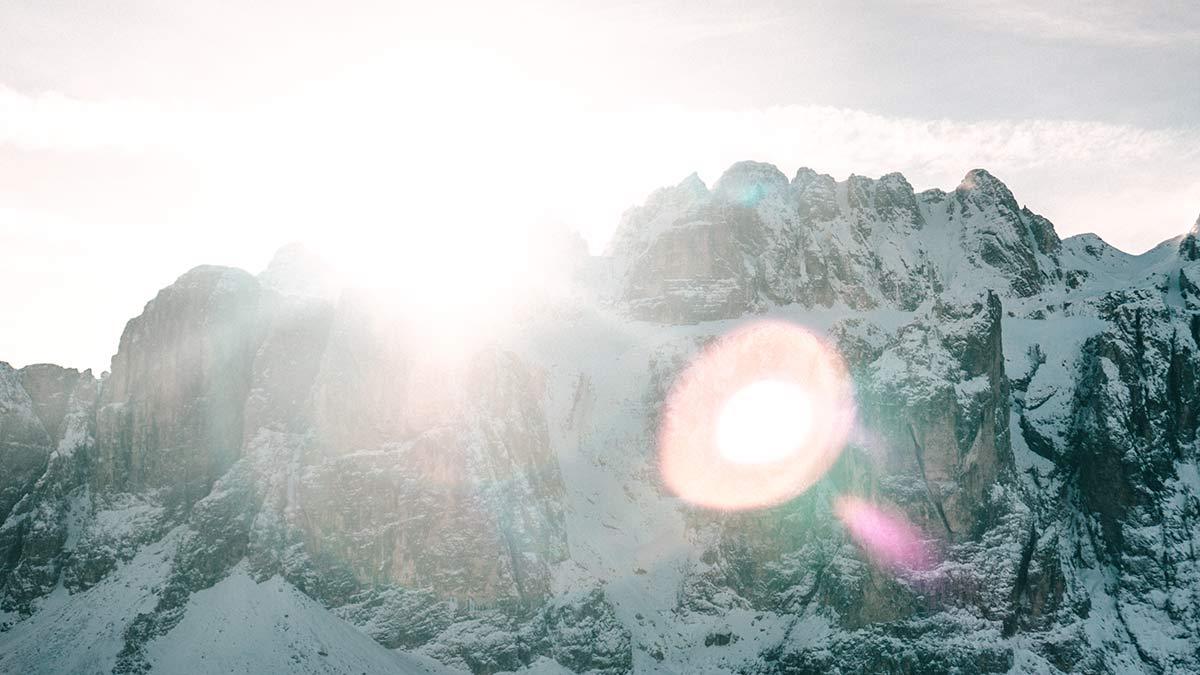 Wolkenstein Dolomiten Sonnenaufgang