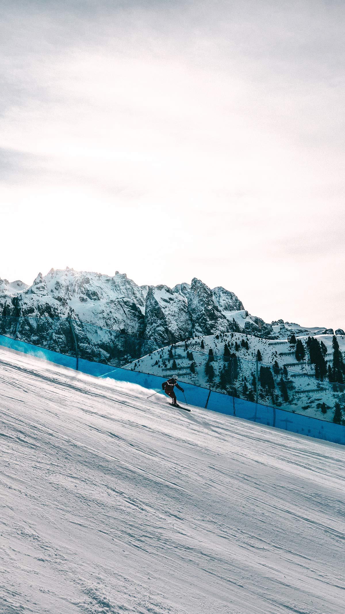 Wolkenstein Skipiste Abfahrt