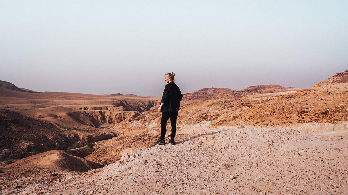 Berg Nebo Auffahrt Aussicht