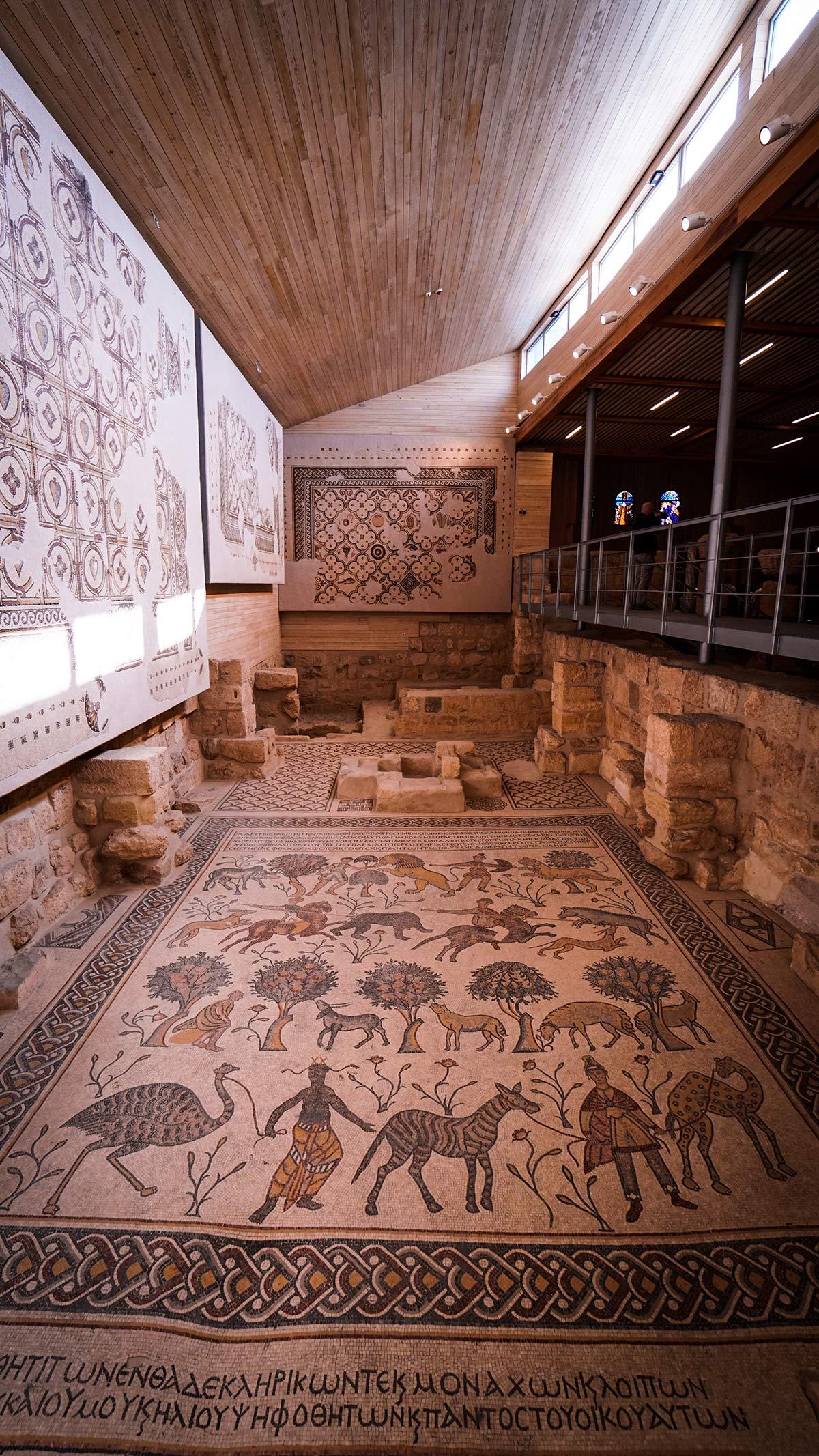Berg Nebo Kirche Mosaikboden