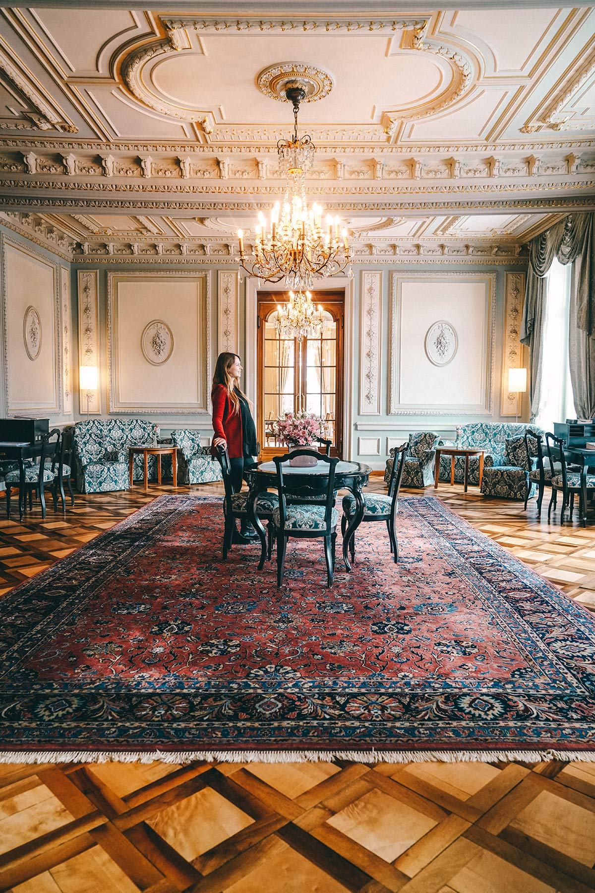 Grand Hotel Kronenhof Blauer Salon