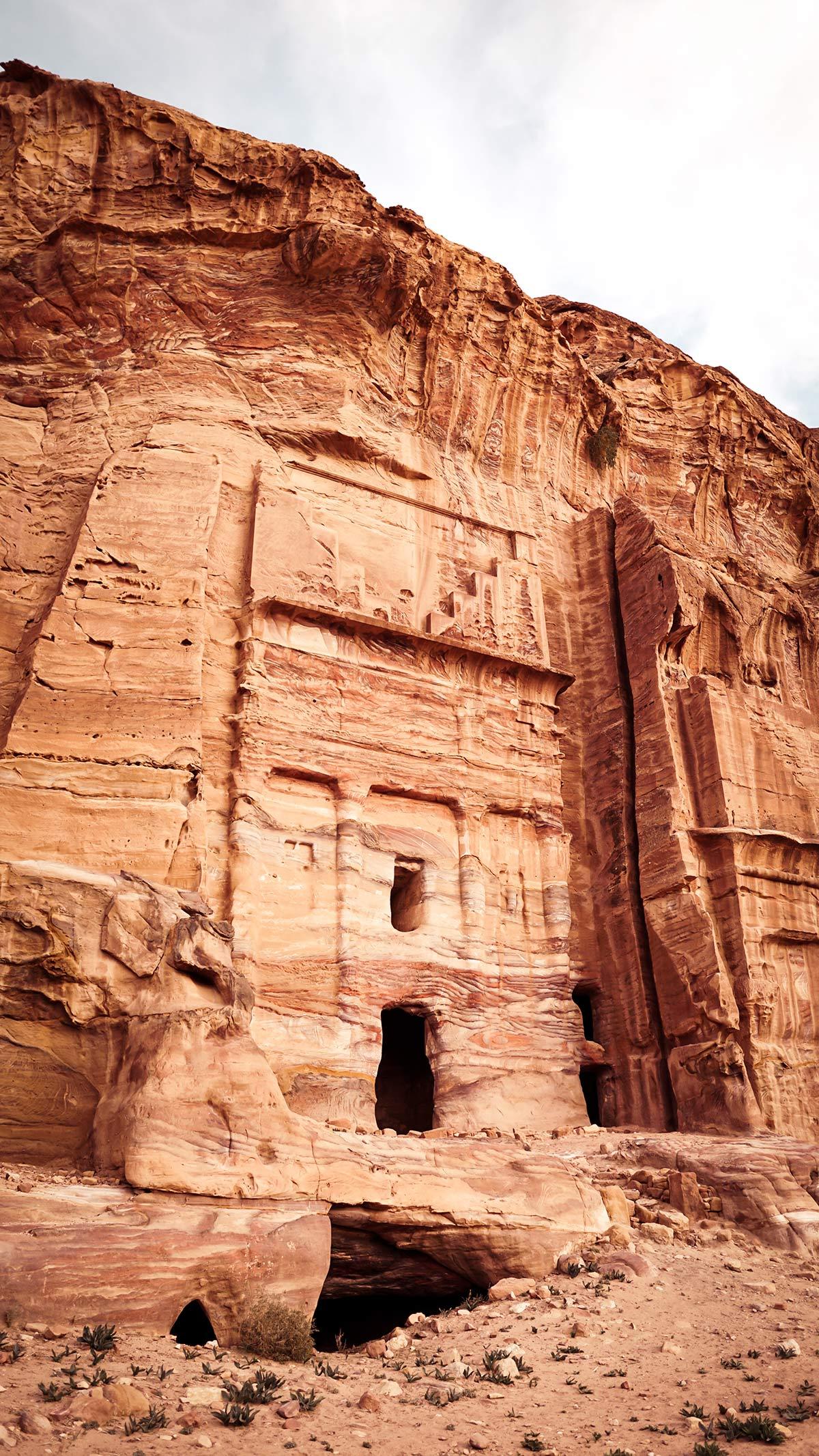 Petra Fels Fassade Nabataer