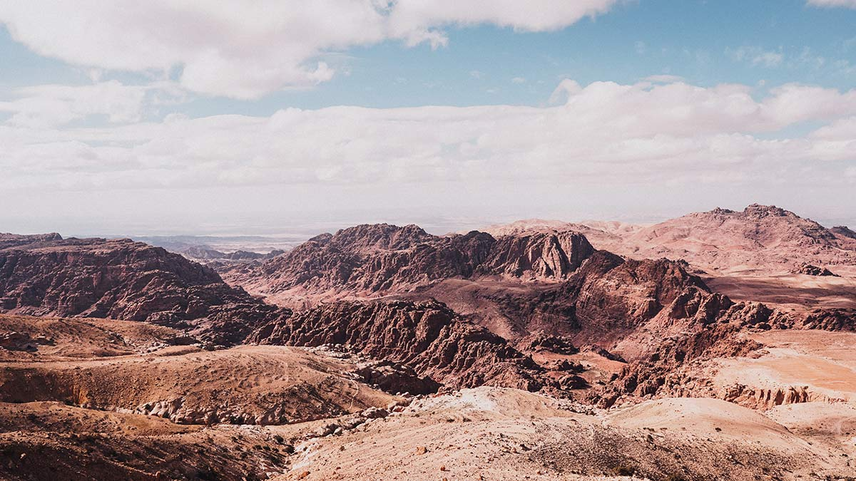 Petra Moevenpick Nabatean Castel Terasse Ausblick