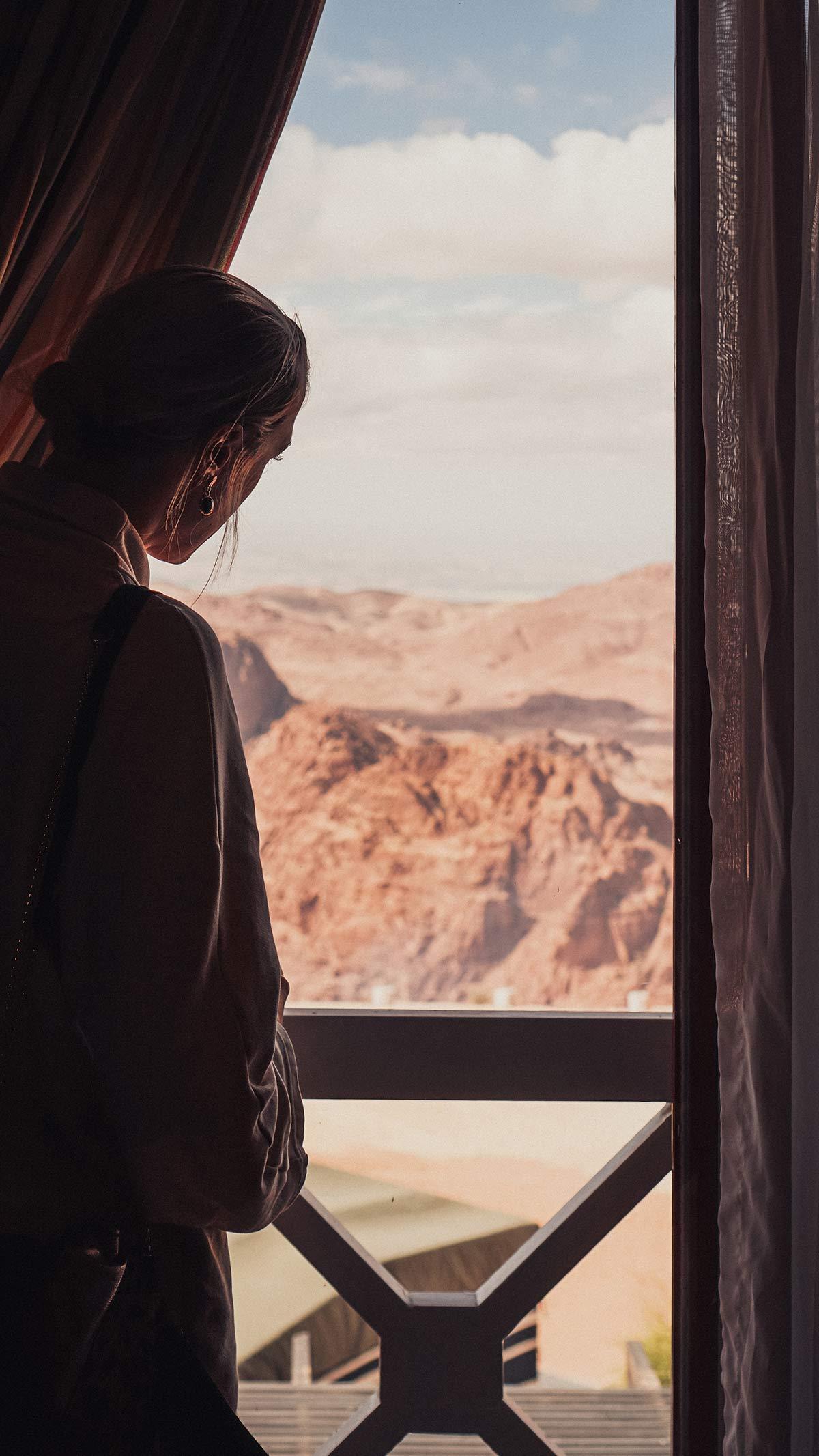 Petra Moevenpick Nabatean Castle Zimmer Blick