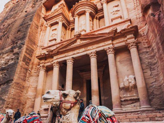 Petra Schatzhaus Kamele Fassade