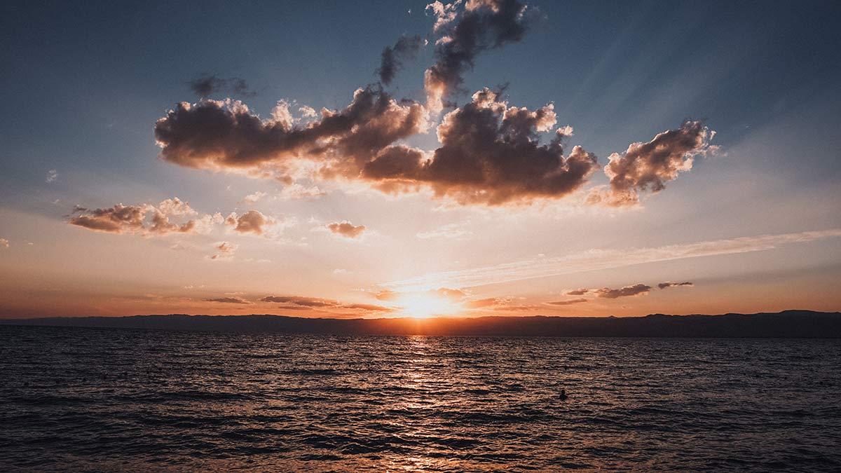 Totes Meer Sonnenuntergang