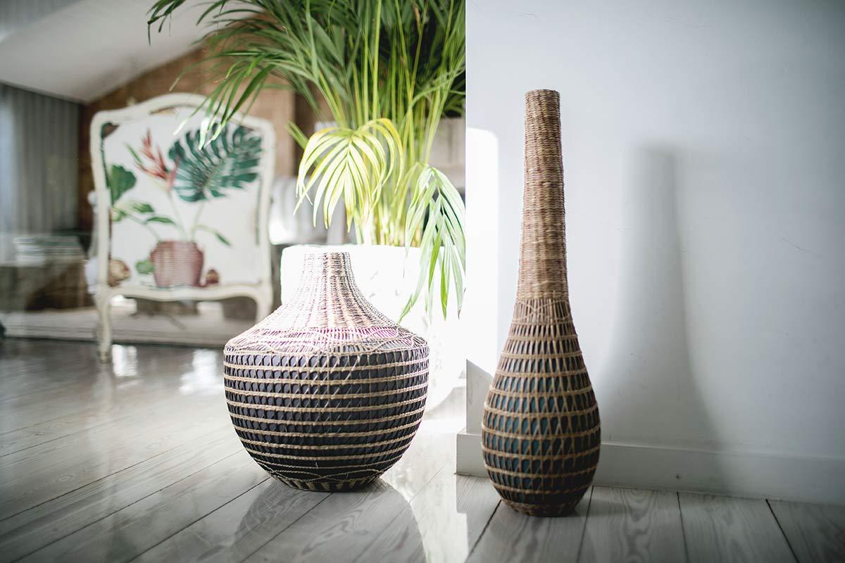 Vasen im Airbnb