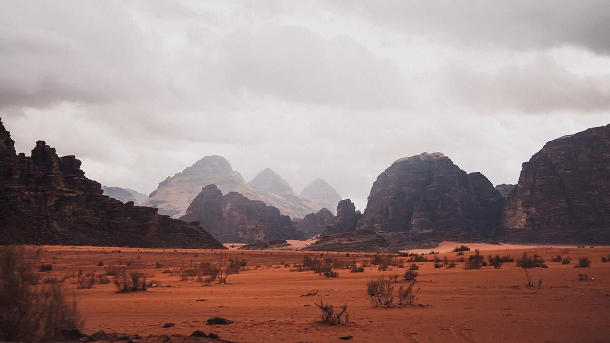 Wadi Rum Landschaft Berge Felsen