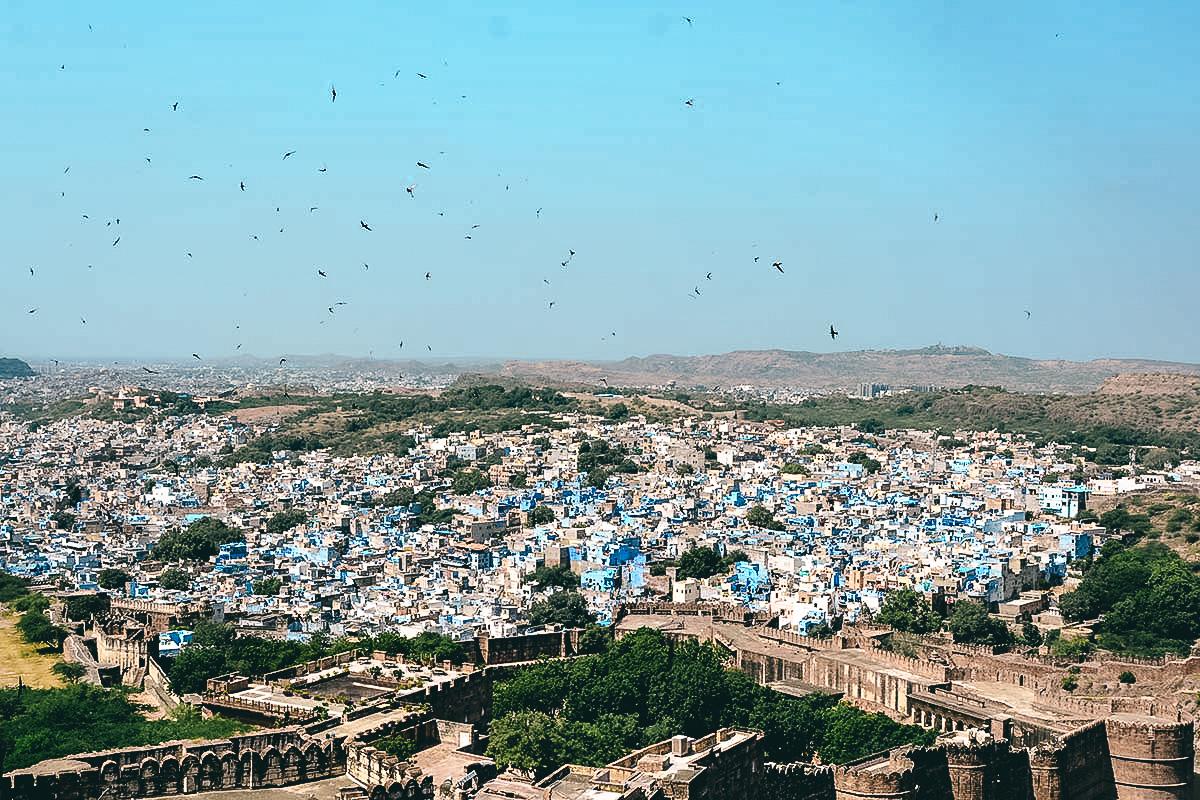 blick vom Mehrangarh Fort auf jodhpur