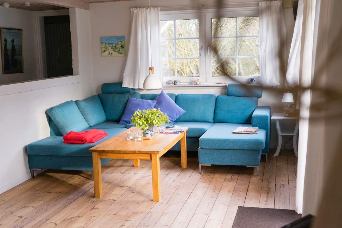 Ferienwohnung auf Fanoe Wohnzimmer