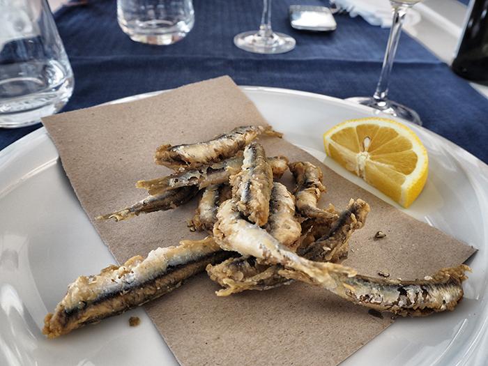 fritierte anchovies ligurien