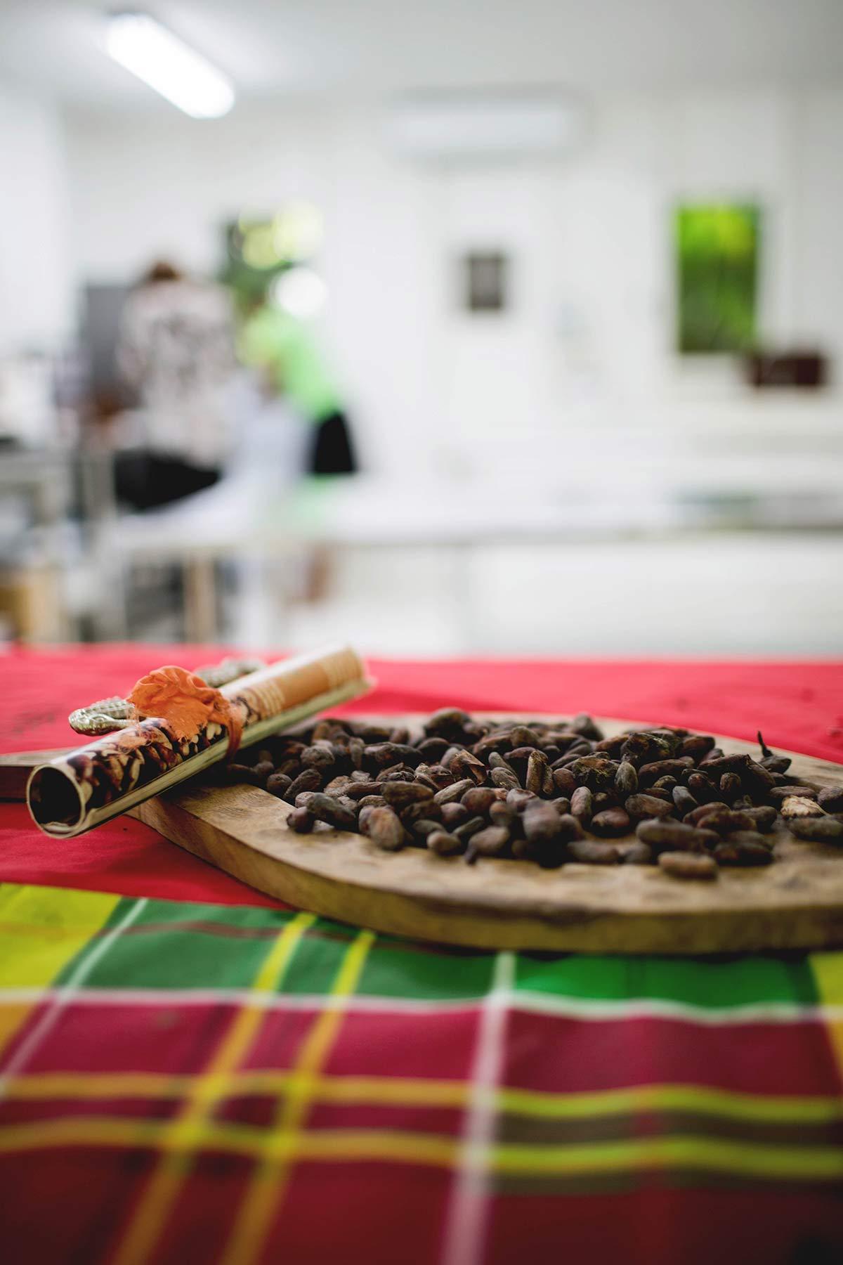 Kakaobohnen-auf-dem-Tisch
