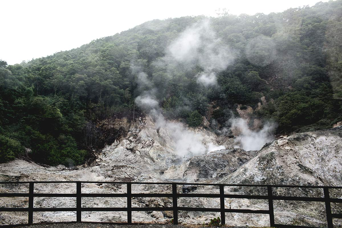 Schlammbaden St Lucia Vulkan