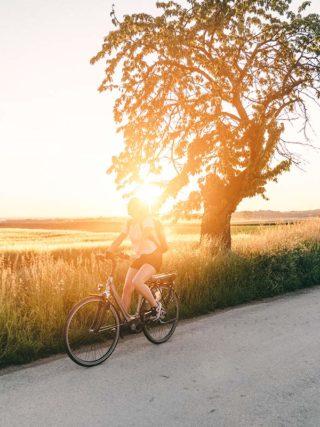 Sonnenuntergang auf dem Iron Curtain Trail