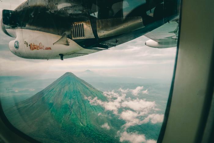 vulkan arenal von oben