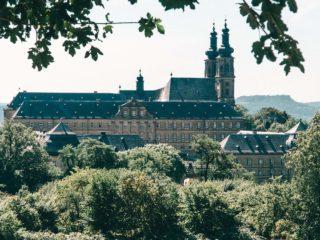 Kloster Banz Ausblick Spaziergang Paar