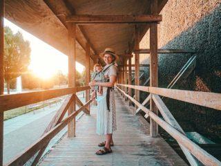 Kurpark Gradierwerk Sonnenuntergang Christine