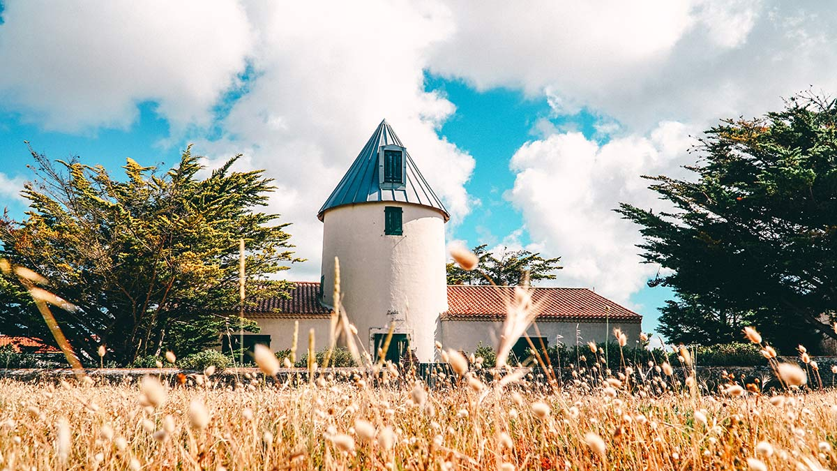Noirmoutier Impression Alte Muehle