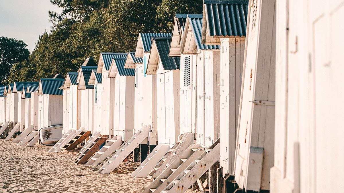 Noirmoutier Plage des Dames Kabinen