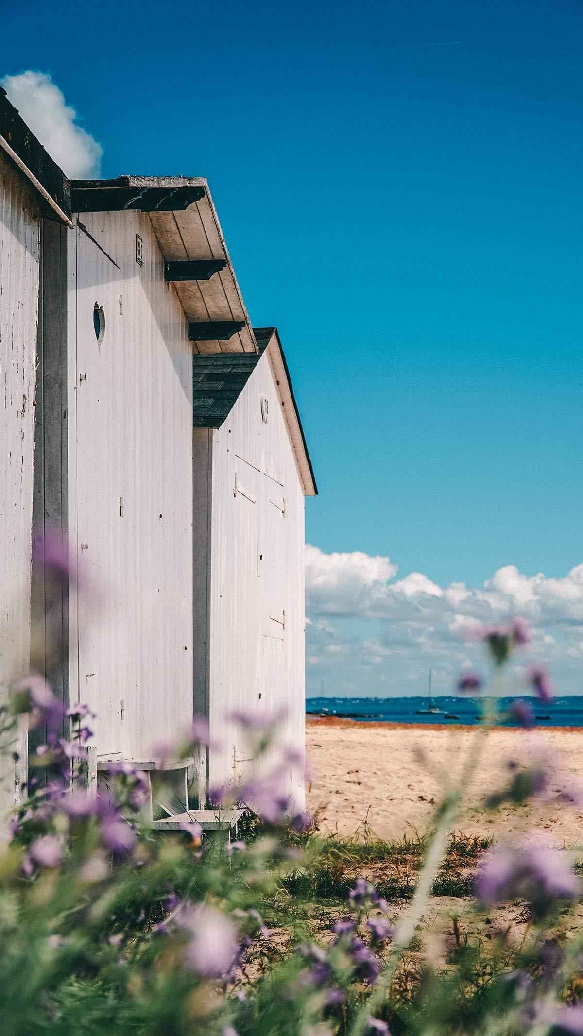 Noirmoutier Strand Kabinen