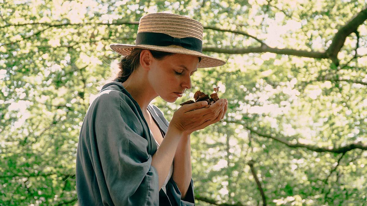 Waldbaden Staffelstein Laub riechen