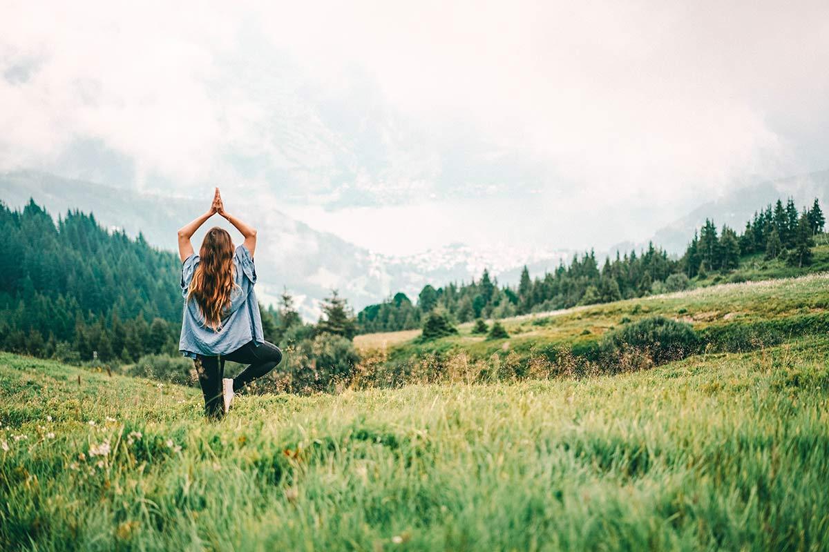 Zell am See Kaprun Yoga auf dem Berg