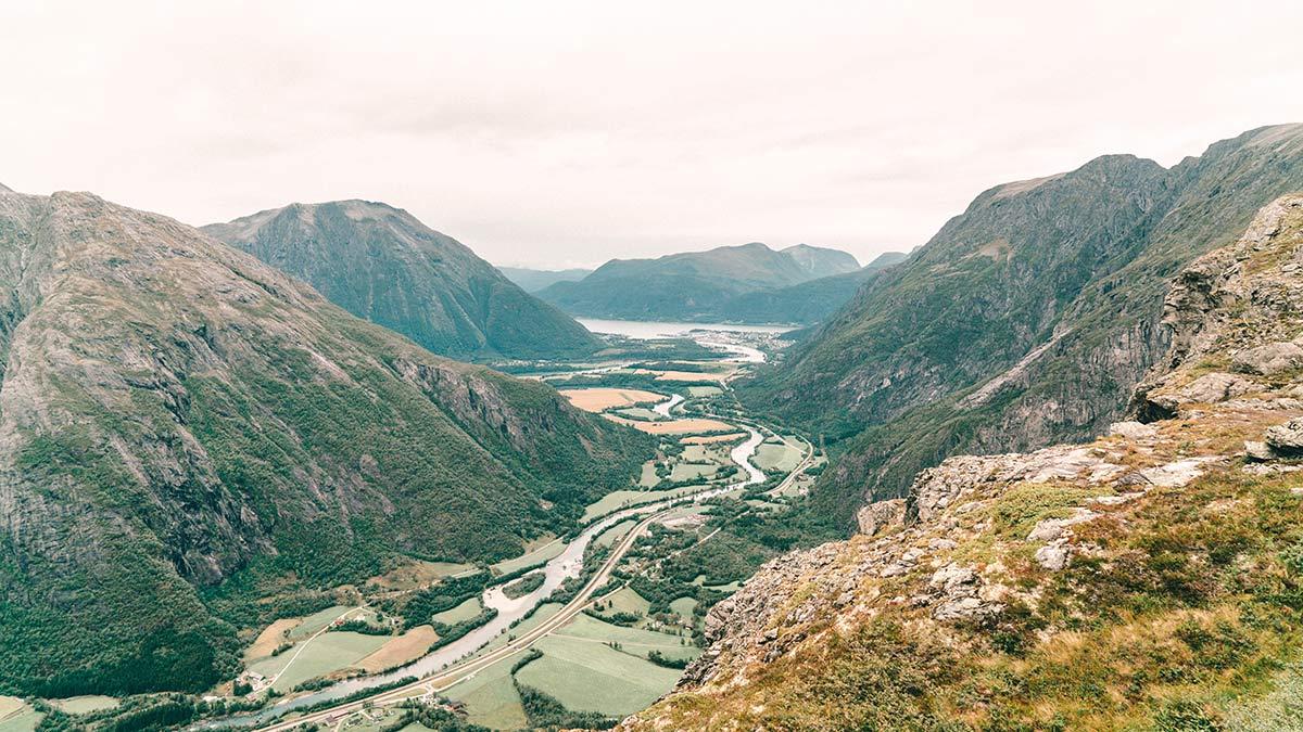 Aussicht ins Tal Litlefjellet