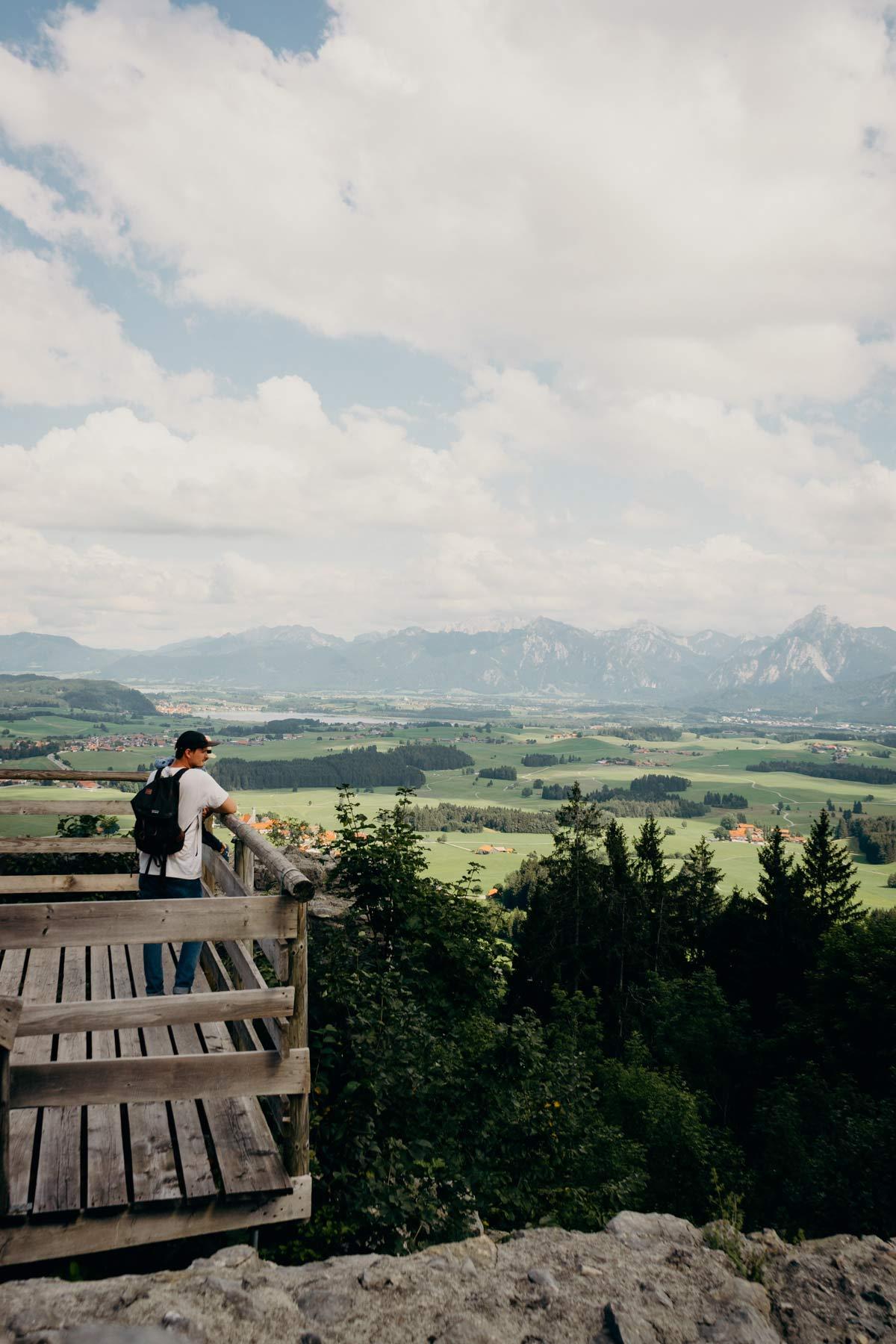 Aussichtsplattfrom Pfronten Hohenfreyberg