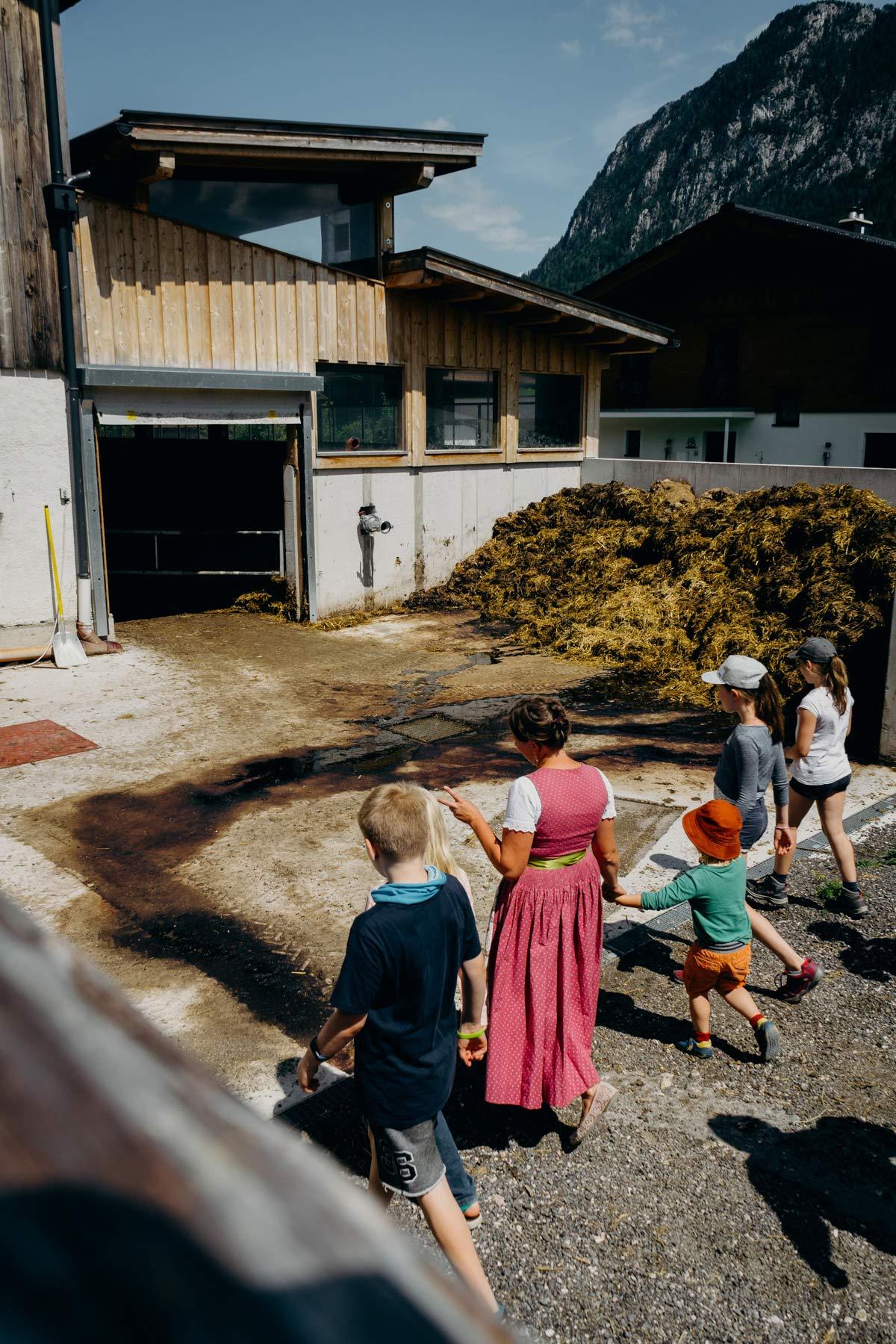 Bauernhof beim Perchtbauer in Unken