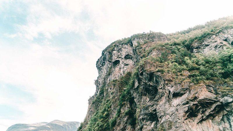 Geirangerfjord Felswand