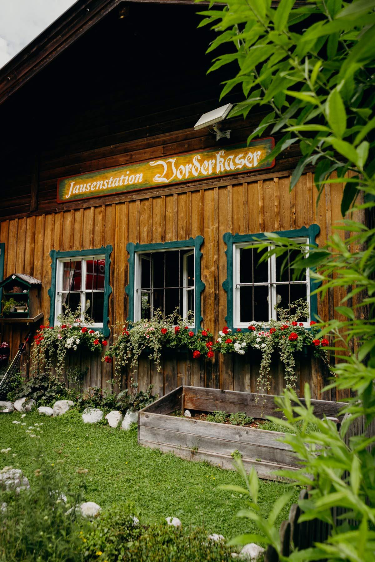 Jausenstation Vorderkaser Salzburger Saalachtal