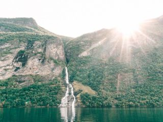 Wasserfall Geirangerfjord