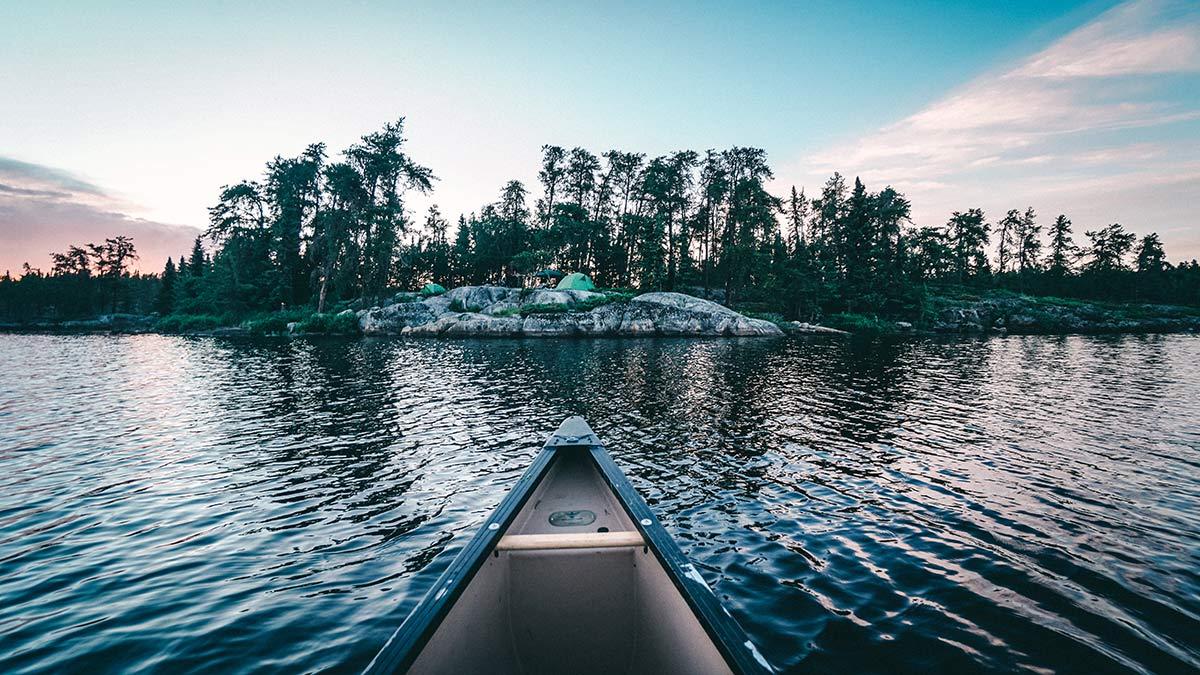 Kanu Trip Seagrim Lake Insel