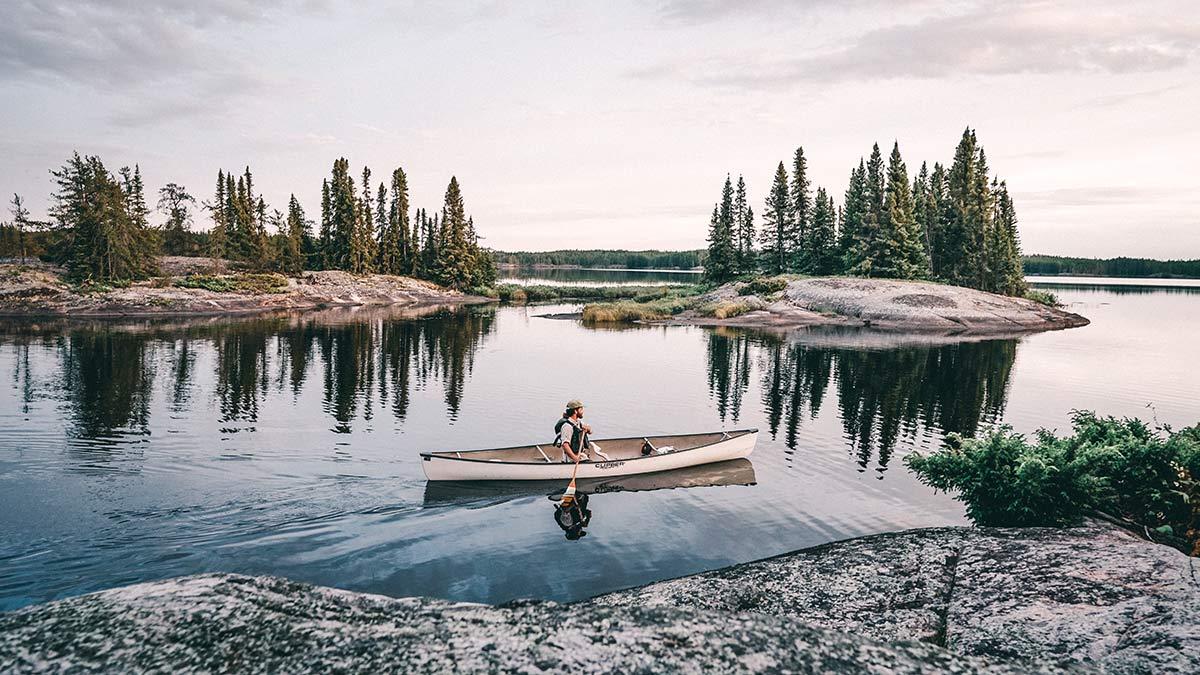 Kanu Trip Seagrim Lake Panorama