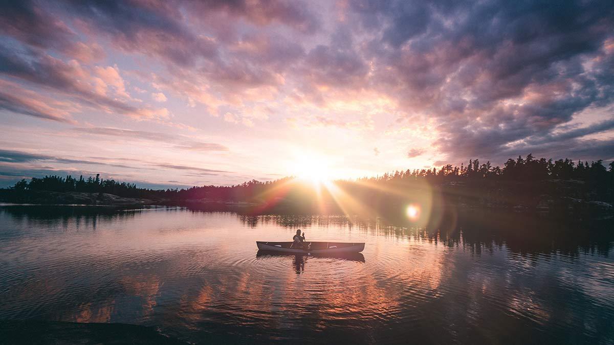 Kanu Trip Seagrim Lake Sonnenuntergang