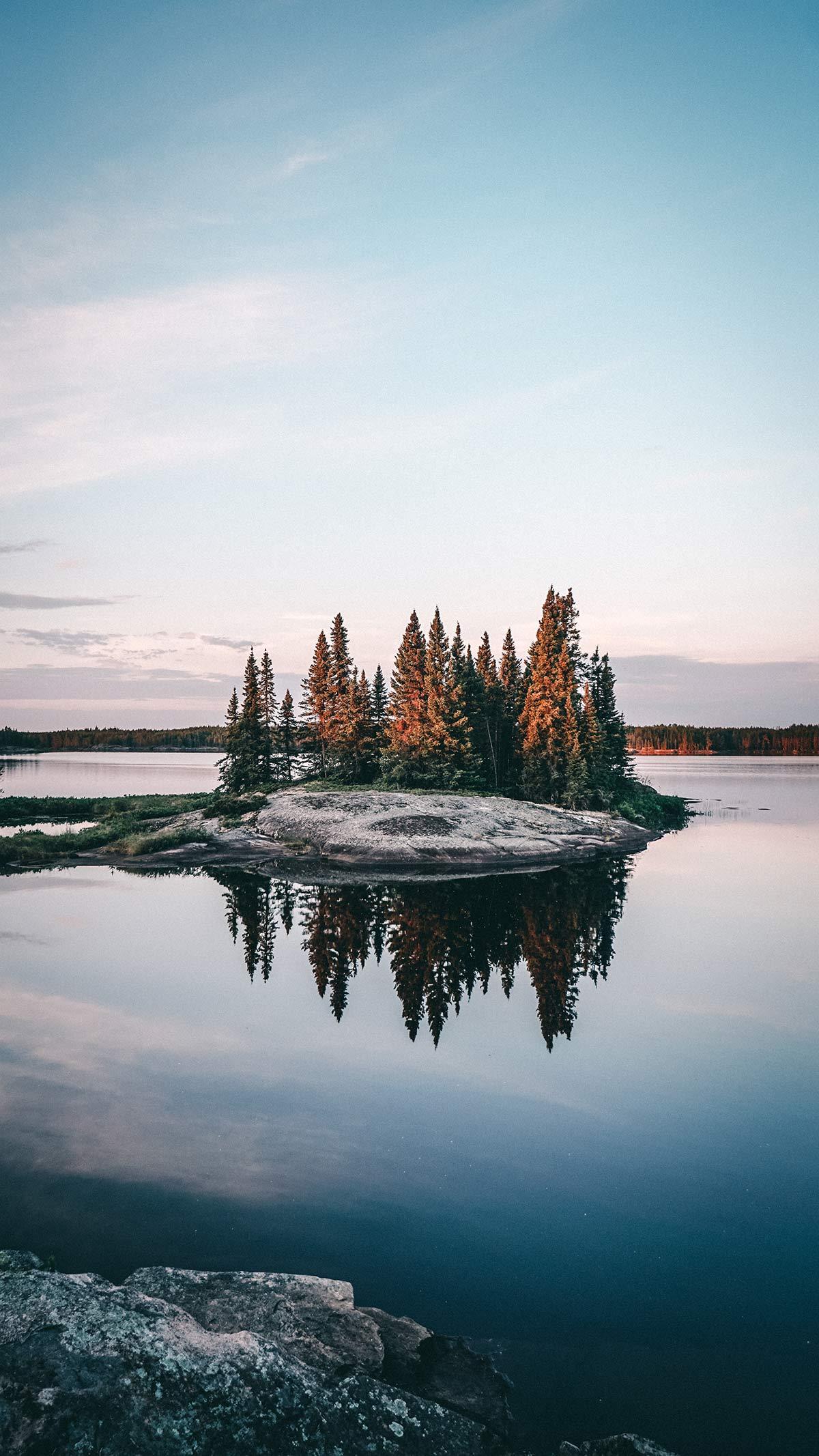 Kanu Trip Seagrim Lake Spiegelung