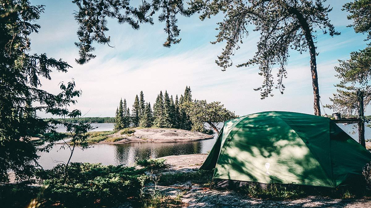 Kanu Trip Seagrim Lake Zelten
