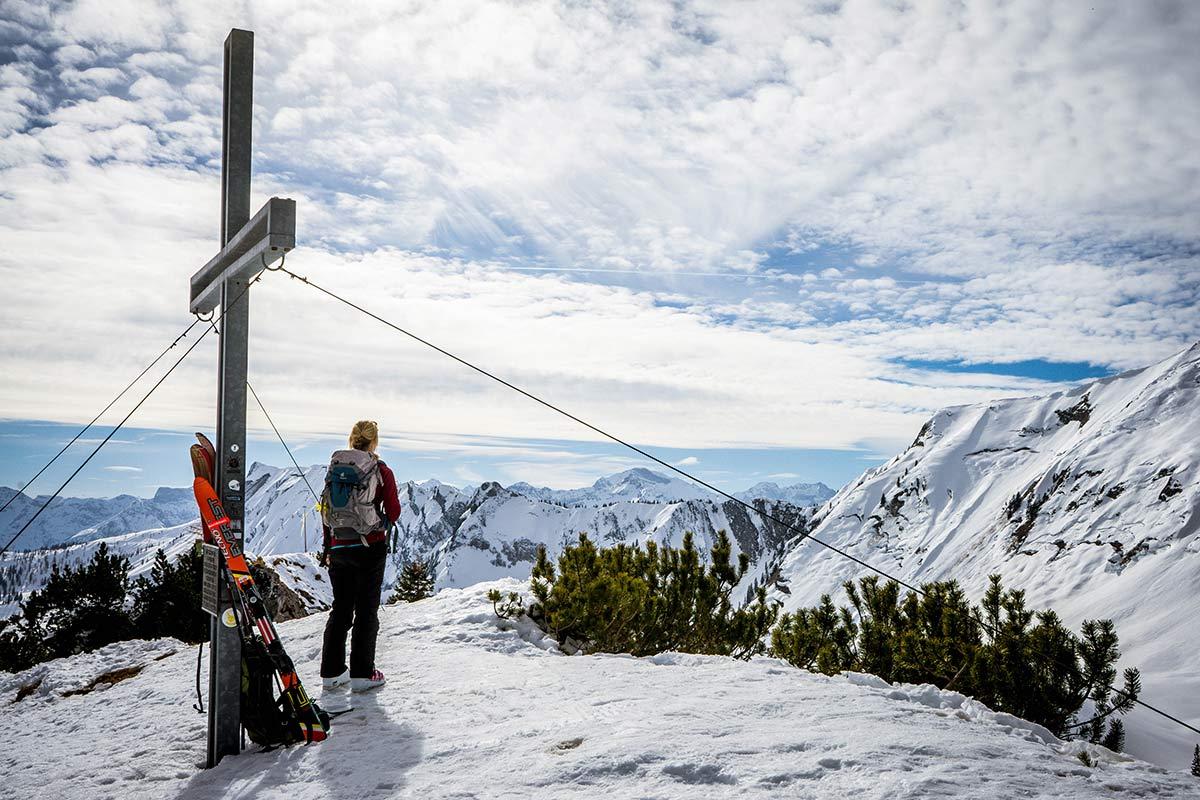 oesterreich tirol achensee skitour christlum gipfelkreuz
