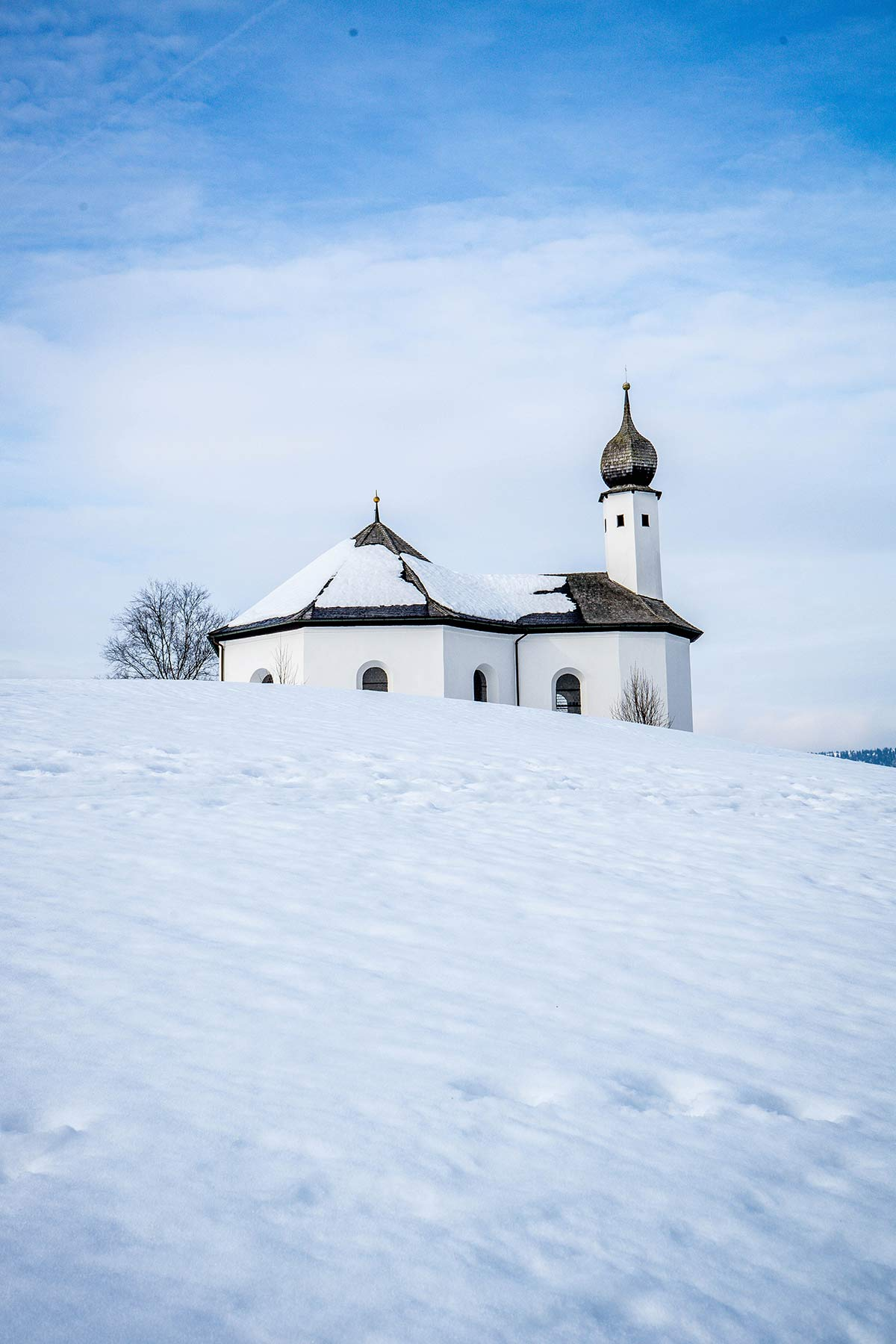 oesterreich tirol achensee winterlandschaft kirche