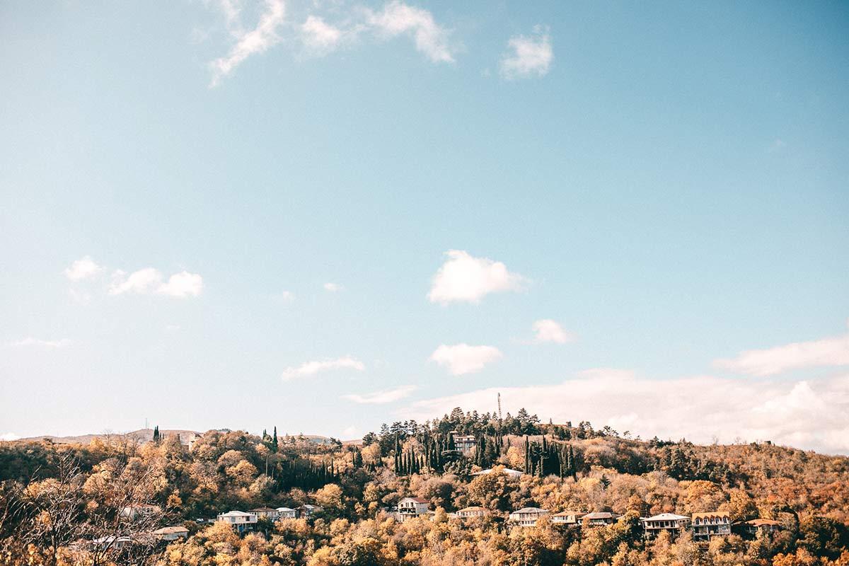 Aussicht von der Stadtmauer in Sighnaghi