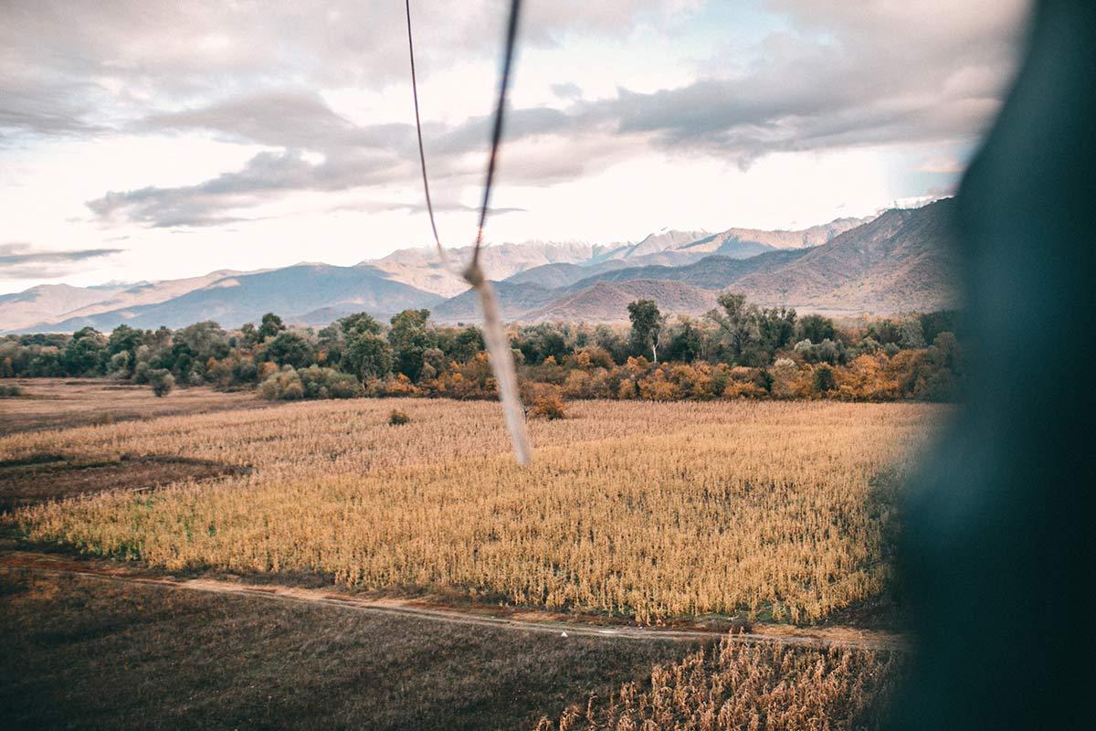 landung heissluftballon